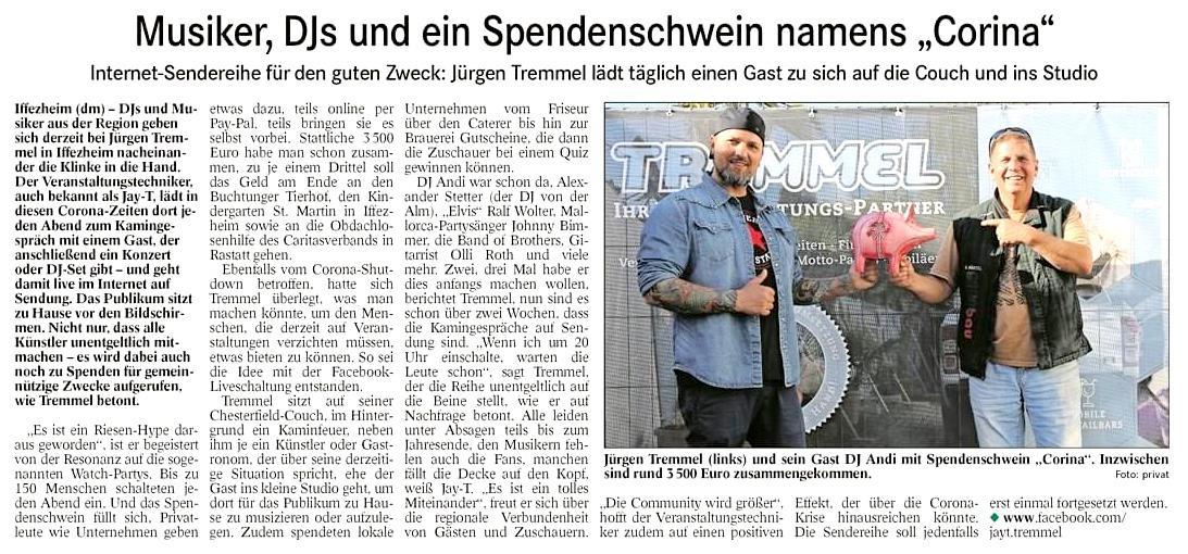 Jürgen Tremmel jt-veranstaltungspartner hochzeit hochzeitsdj dj band musik karlsruhe  rastatt tremmel spende Spendenaufruf übertrifft Erwartungen - 20.000€ gesammelt! referenzen, slider-post
